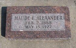 Maude E Alexander