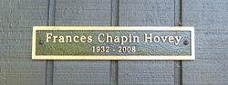Mary Frances <i>Chapin</i> Hovey