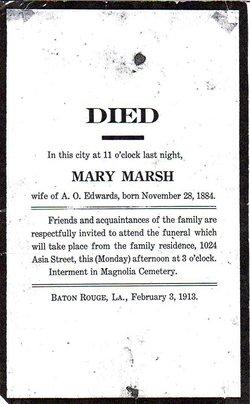 Mary <i>Marsh</i> Edwards