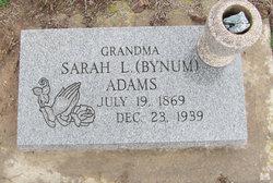 Sarah L <i>Bynum</i> Adams