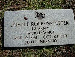 John F Kolbenstetter