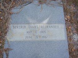 Beverly <i>Evans</i> Alexander