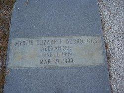 Myrtie Elizabeth <i>Burroughs</i> Alexander