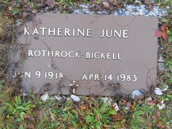 Katherine June <i>Rothrock</i> Bickell