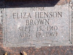 Eliza Mae Liza <i>Henson</i> Brown