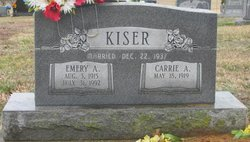 Carrie Alice <i>Pless</i> Kiser