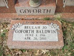 Beulah Jo <i>Goforth</i> Baldwin