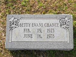 Betty E. <i>Evans</i> Chance