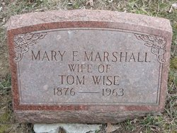 Mary F <i>Marshall</i> Wise