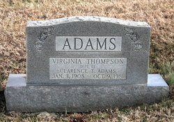 Virginia <i>Thompson</i> Adams