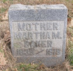 Martha M. <i>Fenn</i> Baker