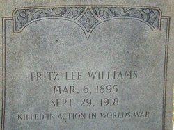 Sgt Fritz Lee Williams