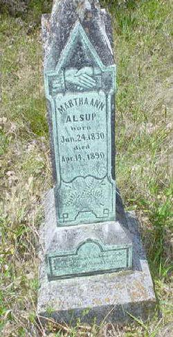 Martha Ann <i>Allen Turner Tanner</i> Alsup