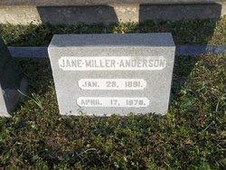 Jane <i>Miller</i> Anderson