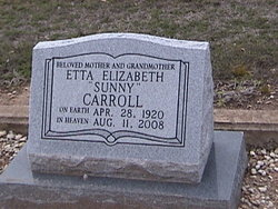 Etta Elizabeth Sunny Carroll