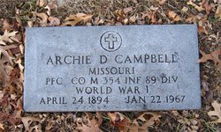 PFC Archie D Campbell