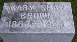 Mary Shaw Brown
