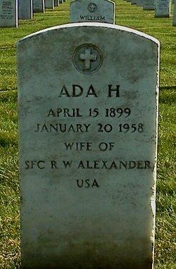 Ada H Alexander