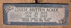 Louise <i>Britton</i> Acker