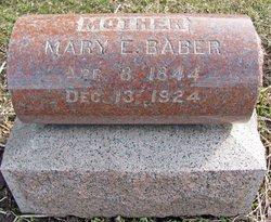 Mary E. <i>Hanks</i> Baber