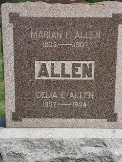 Delia E. <i>cain</i> Allen