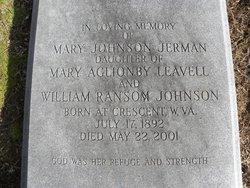 Mary <i>Johnson</i> Jerman