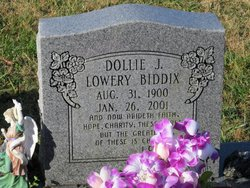 Dollie Jane <i>Lowery</i> Biddix