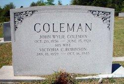 Victoria C. <i>Robinson</i> Coleman