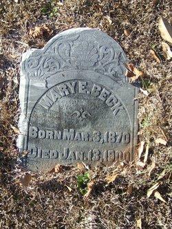 Mary Elizabeth <i>Burrell</i> Beck