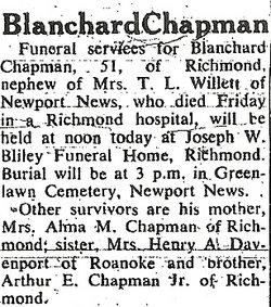 Blanchard Chapman