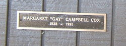 Margaret Gay <i>Campbell</i> Cox