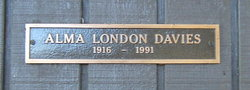 Alma <i>London</i> Davies
