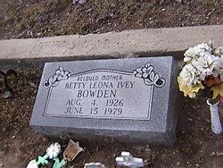 Betty Leona <i>Ivey</i> Bowden