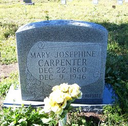 Mary Josephine Mollie <i>Reid</i> Carpenter