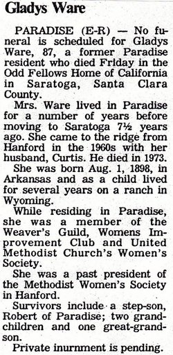 Gladys C. <i>Cox</i> Ware