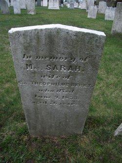 Mrs Sarah <i>Foster</i> Berry