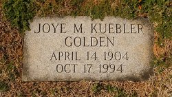 Joye May <i>Kuebler</i> Golden