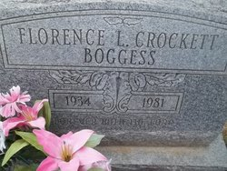 Florence L <i>Crockett</i> Boggers