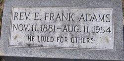 Rev E Frank Adams