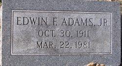 Edwin F Adams, Jr
