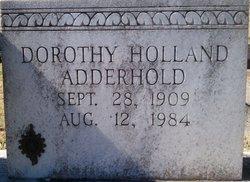 Dorothy <i>Holland</i> Adderhold