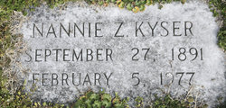Nannie Z Kyser