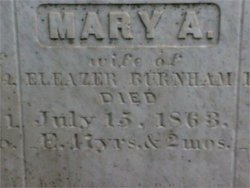 Mrs Mary Ann <i>Rideout</i> Burnham