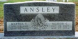 Martha Emily Lou <i>Allen</i> Ansley