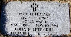 Edna R <i>LaRosee</i> Letendre