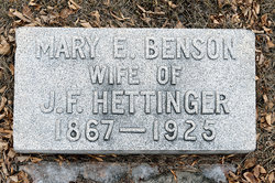Mary E <i>Harris</i> Hettinger