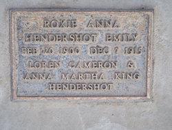 Roxie Anna <i>Hendershot</i> Emily