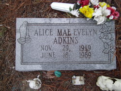 Alice Mae Evelyn Adkins