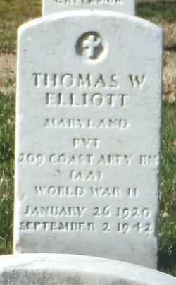 Pvt Thomas W Elliott