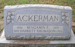 Harriett <i>Thomason</i> Ackerman